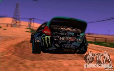 Ford Fiesta H.F.H.V. Ken Block 2013 для GTA San Andreas вид сзади слева