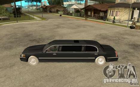 Lincoln Towncar limo 2003 для GTA San Andreas вид слева