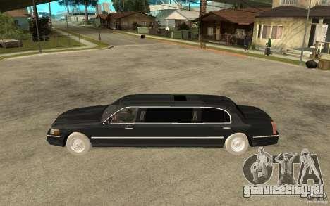 Lincoln Towncar limo 2003 для GTA San Andreas вид слева
