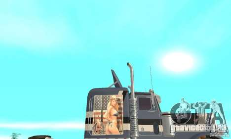 Peterbilt 359 для GTA San Andreas вид изнутри