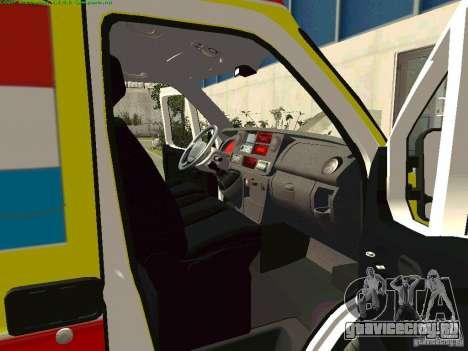 Renault Master Скорая Самары для GTA San Andreas вид справа