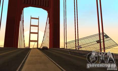 Разрушенный мост в San Fierro для GTA San Andreas седьмой скриншот