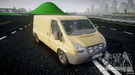 Ford Transit 2009 для GTA 4 вид сзади