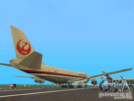 Boeing 747-100 Japan Airlines для GTA San Andreas вид справа