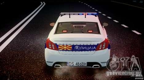 Peugeot 508 Macedonian Police [ELS] для GTA 4 двигатель