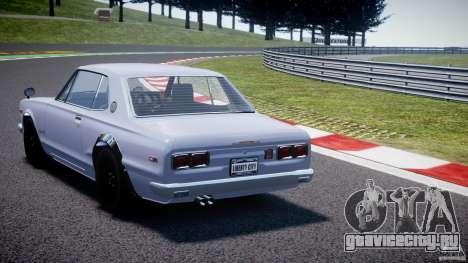 Nissan Skyline 2000 GT-R для GTA 4 вид сзади слева
