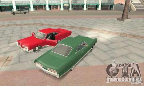 Pontiac Bonneville 1966 для GTA San Andreas вид изнутри