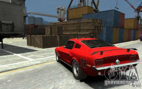 Ford Mustang Fastback 302did Cruise O Matic для GTA 4 вид сзади слева