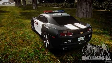 Chevrolet Camaro Police (Beta) для GTA 4 вид сзади слева