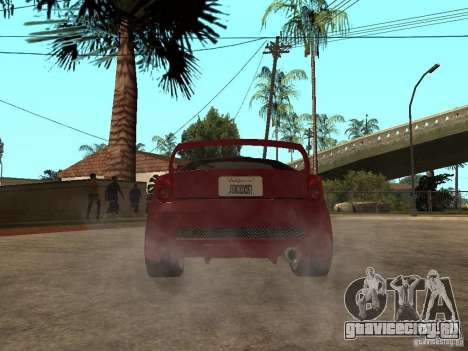 Toyota Celica Veilside для GTA San Andreas вид сзади слева