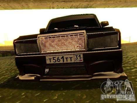 ВАЗ 2107 X-Style для GTA San Andreas вид изнутри