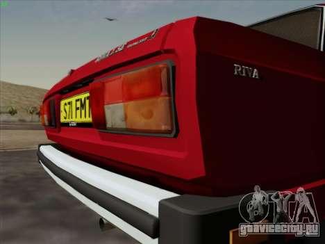 Lada 2105 RIVA (Экспортная) 2.0 для GTA San Andreas вид изнутри