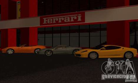 Новый Автосалон Ferrari в Сан Фиеро для GTA San Andreas второй скриншот