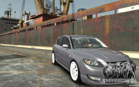 Mazda 3 для GTA 4 вид сзади