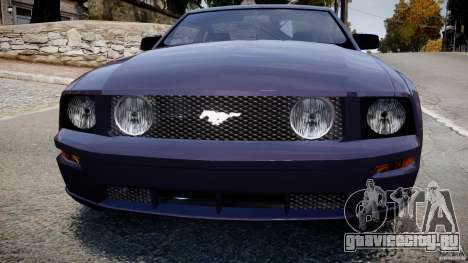 Ford Mustang для GTA 4 вид сзади