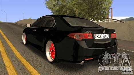 Acura TSX Doxy для GTA San Andreas вид сзади слева