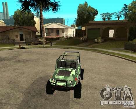 УАЗ 469 HUNTER для GTA San Andreas вид сзади