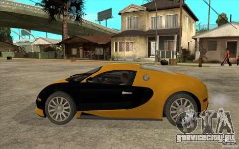 Bugatti Veyron v1.0 для GTA San Andreas вид слева