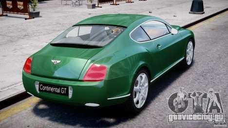 Bentley Continental GT для GTA 4 вид снизу