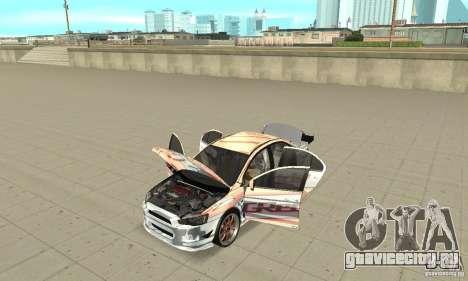 Mitsubishi Lancer Evolution X для GTA San Andreas вид сзади