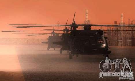 UH-60M Black Hawk для GTA San Andreas вид сверху