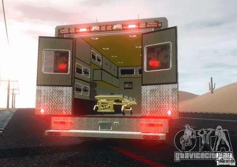 Ford F350 FDLC Ambulance v3.0 ELS для GTA 4 вид справа