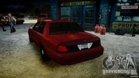 Ford Crown Victoria Detective v4.7 red lights для GTA 4 вид снизу