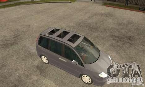 Citroen C8 для GTA San Andreas вид сзади