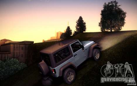 Jeep Wrangler Rubicon 2012 для GTA San Andreas вид слева