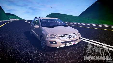 Mercedes-Benz ML 500 v1.0 для GTA 4 вид сзади