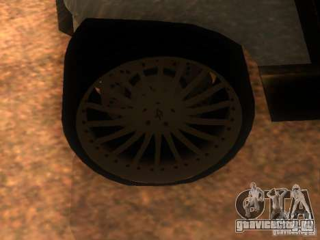 CADDY v1.0 рестайлинг для GTA San Andreas вид сзади