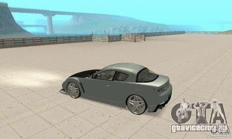 Mazda RX-8 Tuning для GTA San Andreas вид изнутри