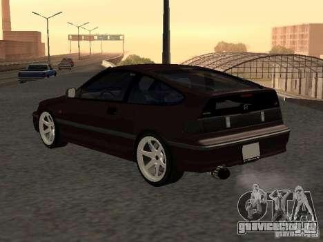 Honda Civic CRX JDM для GTA San Andreas вид сзади