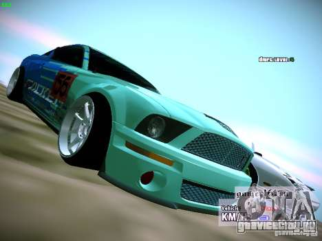 Ford Shelby GT500 Falken Tire Justin Pawlak 2012 для GTA San Andreas вид справа