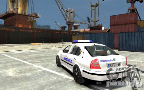 Skoda Octavia 2005 Hungarian Police для GTA 4 вид сзади слева