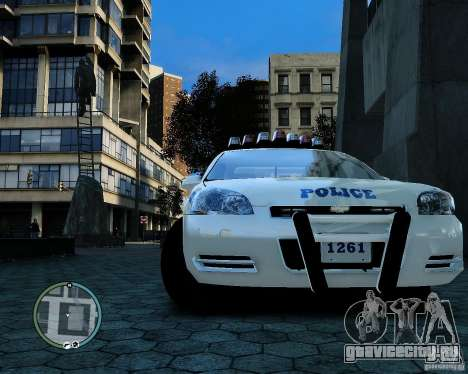NYPD Chevrolet Impala 2006 [ELS] для GTA 4 вид сзади