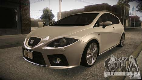 Seat Leon Cupra для GTA San Andreas вид изнутри