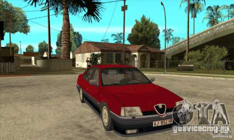 Alfa Romeo 164 для GTA San Andreas вид сзади