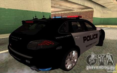 Porsche Cayenne Turbo 958 Seacrest Police для GTA San Andreas вид справа