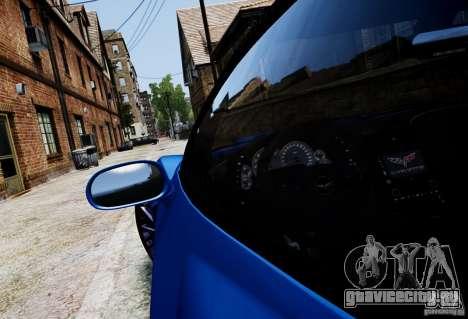 Chevrolet Corvette ZR1 для GTA 4 вид справа