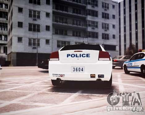 Dodge Charger 2010 NYPD ELS для GTA 4 вид справа