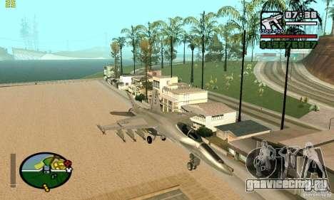 F-18 Super Hornet для GTA San Andreas вид слева