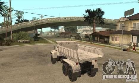 КРАЗ 225 самосвал для GTA San Andreas вид справа