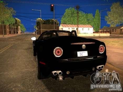 Alfa Romeo 8C Spider 2012 для GTA San Andreas вид сзади слева