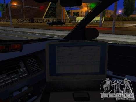 Ford Crown Victoria Erie County Sheriffs Office для GTA San Andreas вид изнутри