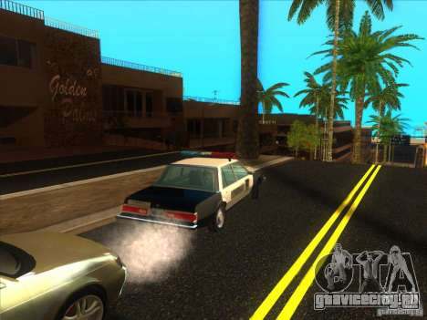Dodge Diplomat 1985 LAPD Police для GTA San Andreas вид сзади