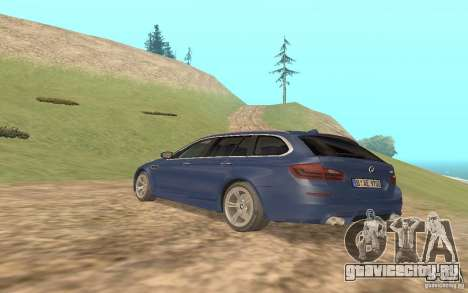 BMW M5 F11 Touring для GTA San Andreas вид сзади