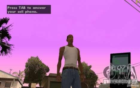 Телефон из GTA IV для GTA San Andreas второй скриншот