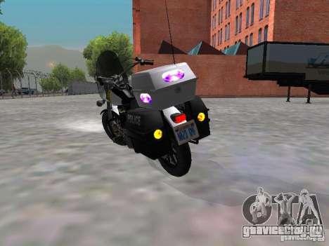 Harley Davidson Dyna Defender для GTA San Andreas вид справа