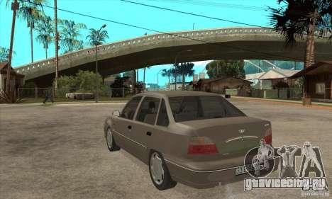 Daewoo Nexia Dohc 2009 для GTA San Andreas вид сзади слева